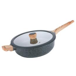$enCountryForm.capitalKeyWord UK - 28cm Large Flat Bottom Deep Medical Stone Non Stick Multipurpose Frying Pan ,Steak Pot General Use Fire Electromagnetic Cooker