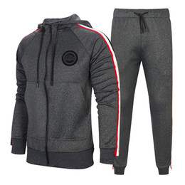 Brand tracksuits online shopping - Tracksuit For Men Pieces Set New Fashion Jacket Sportswear Men Tracksuit Hoodie Spring Autumn Brand Clothes Hoodies Pants