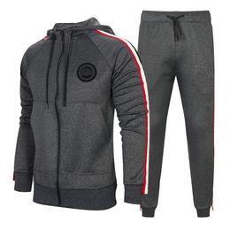 Ingrosso Tuta da uomo 2 pezzi Set New Fashion Jacket Sportswear Uomo Tuta Felpa con cappuccio Primavera Autunno Brand Hoodies + Pants