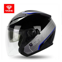 $enCountryForm.capitalKeyWord NZ - 2017 summer New Knight protection YOHE Half face motorcycle helmets ABS open face Motorbike helmets 10 colors size M L XL XXL