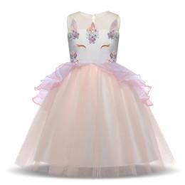 99984aefc83 Meilleur Fille Robe De Licorne D été De Broderie Fleur Bébé Filles Robes De  Soirée Enfants De Mariage Robe Petite Fille Robe De Princesse
