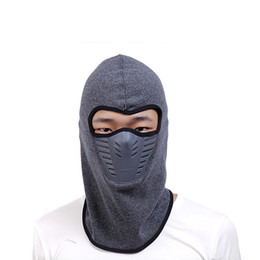 Face Mask Helmet Neck Warm NZ - Outdoor Sport Bike Walking Cycling Neck Face Winter Warm Mask Men WomenThermal Flannel CS Hat Ski Hood Helmet Caps 6 Colors