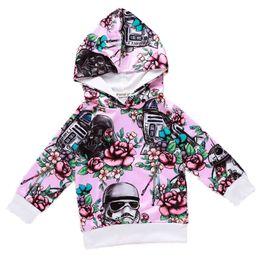 Girls hooded sweatshirts online shopping - Kids Hoodies Sweatshirt Mountains Letter Cartoon Printed Cotton Blending Boy Girls Spring Autumn Winter Class A
