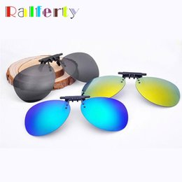 polarized clip flip up 2019 - Ralferty Mirrored Polarized Clip On Sunglasses Men Pilot Flip Up Sunglass Clips For Myopia Glasses Polaroid UV400 Goggle