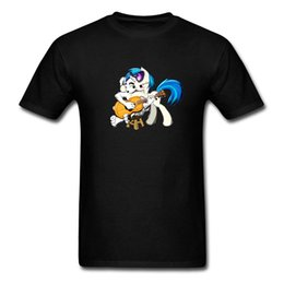 Guitar 3d UK - Best Gift T Shirt For Boy Top Quality Full Cotton Colorfast 3D Digital Cartoon Comic T Shirt Pony Play Guitar T-Shirt Awesome