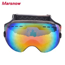Discount ski goggles kids - 2017 Marsnow double layers ski goggles UV400 anti-fog big kids mask glasses skiing Eyewear men women snow snowboard gogg