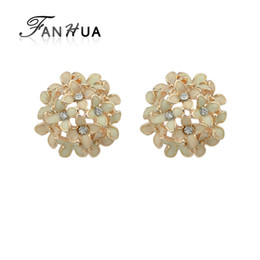 cute jewelry for sale NZ - FANHUA New Lovely Flower Stud Earrings Clove Brincos Colorful Enamel Cute Earrings for Women Jewelry On Sale