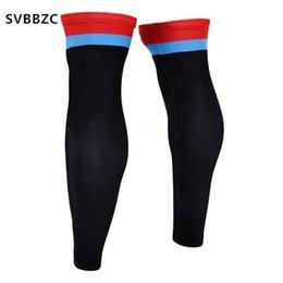 China 1 Pair Breathable Lycra Legwarmers Sports Leg Sleeve Basketball Running Calf Knee Sleeve Protector supplier lycra leg sleeves suppliers