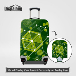 $enCountryForm.capitalKeyWord NZ - Unique Geometry Patterns Suitcase Protective Cover For 18-30 Inch Trolley Case Stretch Elastic Waterproof Dustproof Traveling Luggage Covers