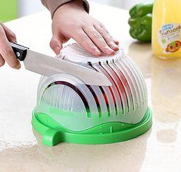Discount slicer easy cutter - Salad Cutter Bowl Easy Salad Maker Tools Kitchen Gadget Vegetable Fruits Slicer Chopper Washer And Cutter