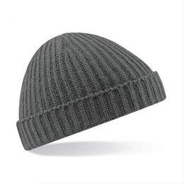 7d0a03527bb Winter Vintage Solid Warm Hats for Women Knied Plain Beanie Men Cap Casual  Daily Ski Hat Mens chapeaux femme