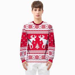 28ad50382e 2018 Hot Sales Cartoon Cute Christmas Reindeer Snowflake Print Hoodies Sweatshirts  Couples Students Youth Mens Plus Size Autumn