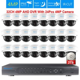 $enCountryForm.capitalKeyWord NZ - 32ch AHD DVR System 24pcs 4MP 2592*1520 IP66 Vandalproof Indoor outdoor Dome Security Camera kit hdmi P2P video surveillance Set
