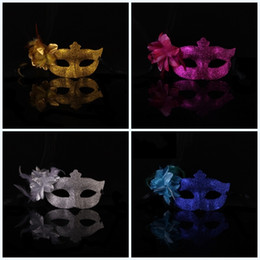 Draw cartoons paint online shopping - Women Flower Masquerade Full Gold Star Painted Mask Coloured Drawing Half Face Masks Dance With Multi Color Party Supplies yk jj