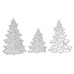 Chinese  3pcs Metal Cutting Dies for Scrapbooking Christmas Dies Embossing Folder Stencil Photo Album Decorative Christmas Tree manufacturers