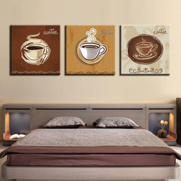 $enCountryForm.capitalKeyWord NZ - Canvas Paintings Living Room Wall Art Framework HD Prints Pictures 3 Pieces Coffee Cup Posters Kitchen & Restaurant Home Decor
