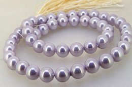 south sea shell pearl beads NZ - Shell Pearl Jewellery,Lavender South Sea Shell Pearl Loose Beads 8mm One Full Strand 15inches