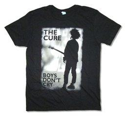 The Cure Boys Do not Cry Immagine grigia Maglietta nera New Official Band 2018 Summer Brand Uomo Abbigliamento O - Collo Fashion Style