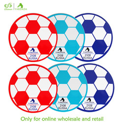 Discount coaster for plate - 6pcs set restaurant accessories mini pallet wood plate coaster,World soccer fans cup pad place mats for dining table in