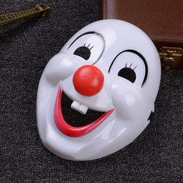 Make up filMs online shopping - Classics Red Nose Clown Mask Jolly Mask Jester Mask Dressed Up Clown For Cosplay make up party Masquerade NightClub