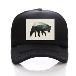 Discount polo sport red - New Summer Baseball Golf Mesh Cap Snapback print wolf Hat Fashion Polo Trucker Sports Hat Hiphop wolf Women Men Cap