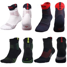 top basketball socks NZ - Top Quality Men Elite Outdoor Sports Basketball Socks Professional Cycling Socks Thicker Towel Bottom Non-slip Male Compression Men's Socks