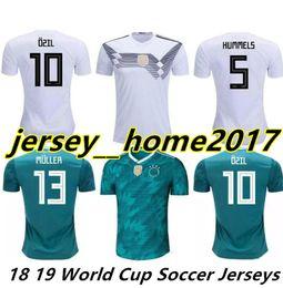 b6ee12c4d 2018 2019 Germany home Jersey MULLER DRAXLER OZIL KROOS Soccer Jerseys 2018  Home GOTZE HUMMELS WERNER HECTOR GORETZKA Football Shirts