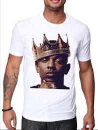 $enCountryForm.capitalKeyWord Australia - KENDRICK LAMAR HIP HOP STAR CELEBRITY RAPPER WITH A CROWN KING T SHIRT DESIGN Summer Fashion Funny Print T-Shirts