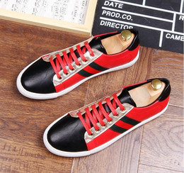 $enCountryForm.capitalKeyWord Canada - NEW arrival Men Shoes Lace-up Shoes white red embroidery Leather Real Leather Mens Moccasins Italian Design Loafers Shoes BMM123