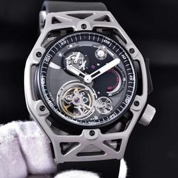 Mechanical Cars Canada - High Quality Fashion Car Design Sports Brand watch for Men 904L mechanical waterproof rubber strap wristwatch 43MM