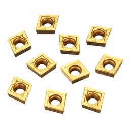 $enCountryForm.capitalKeyWord NZ - 10pcs CCMT060204-HM YBC251 Carbide Insert Titanium Coated Carbide Cutter