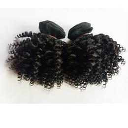$enCountryForm.capitalKeyWord Australia - Malaysian Brazilian virgin human Kinky curly Hair weaves 3pcs Short bob Style 8-12inch sexy European Indian remy hair double weft extensions