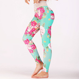 yoga pants workout wear NZ - 2018 Women Floral Print Yoga Pants Sports Leggings Workout Running Training Leggings Push Up Tight Slim Comfortable Gym Wear