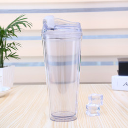 $enCountryForm.capitalKeyWord Canada - Plastic Insulated Tumblers double walled with Straw Lids BPA Free Travel Outdoor Cup cold drink water bottle clear color 21oz