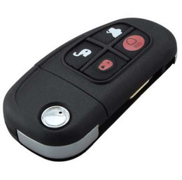 $enCountryForm.capitalKeyWord UK - 4Buttons Remote Flip Folding Key Case Shell For Jaguar X type S type XJ type Car Key Cover Uncut Blade