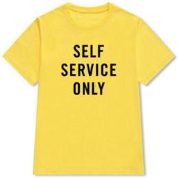97f56b79 Only Shirt Australia - Only t shirt Self service word short sleeve gown 100  cotton street