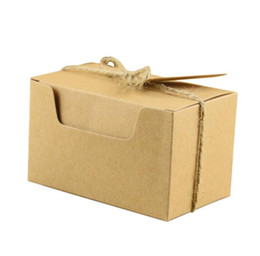 Wholesale Boxes Packaging Australia - Kraft paper Wedding Chocolate Favor Holder Wedding gift packaging box for Guest Party Supply 100pcs lot