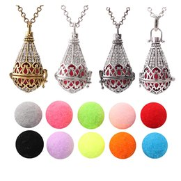 $enCountryForm.capitalKeyWord NZ - 1pc Finish Copper Antique Drop Teardrop Crystal Cage Necklace Aroma Perfume Essential Oil Lockets Diffuser Pendant Jewelry