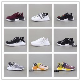 HOT Pharrell Williams X NM Human Race Running Shoes Yellow Black White Runner NMDADDI men and women Trainers casual campus Sneakers Boots high quality buy online sale the cheapest buy cheap store outlet get authentic sale outlet MHK7qp