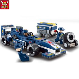 building figures Canada - f1 rc Children Educational !! 196pcs set F1 Racing Car Building Blocks Car Action Figure Toy Kids Puzzle Toy Gifts