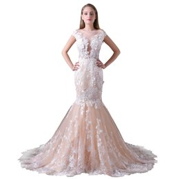 $enCountryForm.capitalKeyWord NZ - A Line Lace Wedding Dress Lace Appliques boho wedding dress long Sexy Backless Floor Length Sexy Backless CMW0023