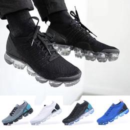 8ecd8228422 2018 Nike Air VaporMax Flyknit 2.0 top chaussures de course pour hommes  Chaussures de plein air classiques air noir blanc chaussures de sport choc  jogging ...
