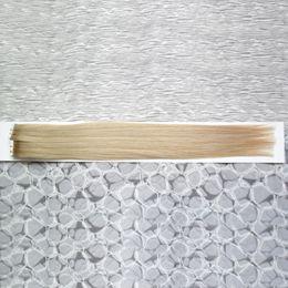 Discount ash blonde hair - #18 Dark Ash Blonde hair products grade 8a virgin brazilian skin weft tape hair extensions 100g Tape In Human Hair Exten