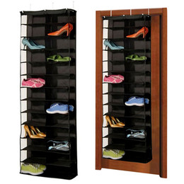 over door storage organizer Canada - 1Pc 26pairs Shoes Hanger Storage Bags Over The Door Hanging Organizer Groceries Rack Space Saver Boxes Home Organization