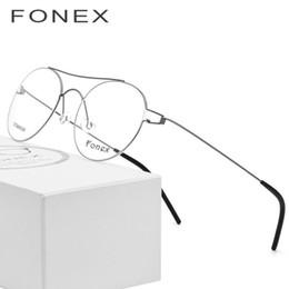 a4972d6ff903d Óculos de armação de óculos de titânio óptico ultraleve miopia óculos de  prescrição dos homens do vintage vermelho coreano dinamarca sem parafusos  eyewear ...