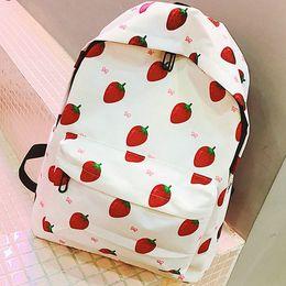 $enCountryForm.capitalKeyWord Canada - Strawberry backpack Nice berries day pack Fruit girl school bag Leisure packsack Quality rucksack Sport schoolbag Outdoor daypack