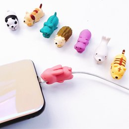 wire cord covers 2019 - Cable Animal bite USB Lightning Charger Data Protection Cover Mini Wire Protector Cable Cord Phone Accessories Creative