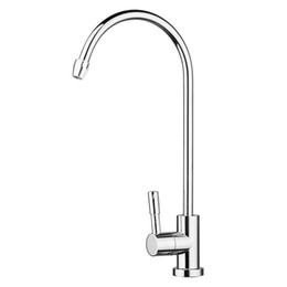 "led kitchen faucet sink water NZ - Stainless Steel Drinking RO Water Filter Faucet 1 4"" 360 Degree Rotation Design Fit Kitchen Sink"
