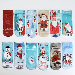 $enCountryForm.capitalKeyWord Canada - Christmas Boat Socks Funny Cartoon 3D Printing Santa Claus Ankle Sock Fashion Unisex Stockings New Arrive 2 2dt C
