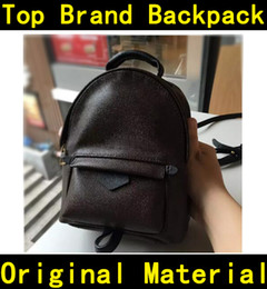 Wholesale Designer backpack high quality flower printing Luxury Famous Brands genuine leather Handbags kids children backpacks school bag